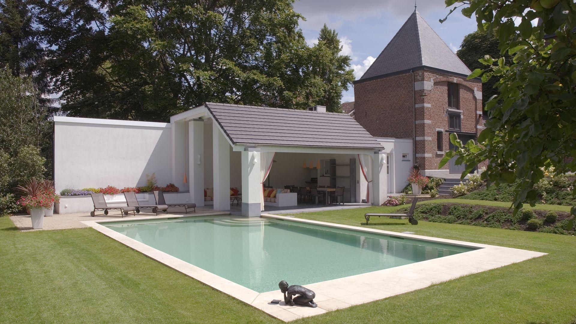 am nagement pour la piscine poolhouse actibuild. Black Bedroom Furniture Sets. Home Design Ideas